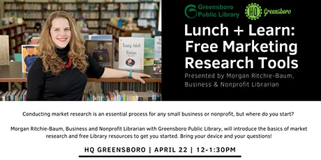 Lunch + Learn: FREE Marketing Research Tools tickets