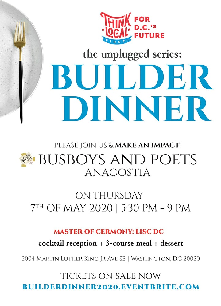 Think Local First DC: The Builder Dinner image