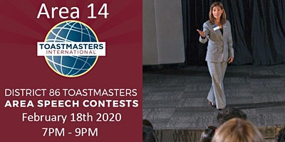 Toastmasters Division M, Area 14 - Area Speech Contest