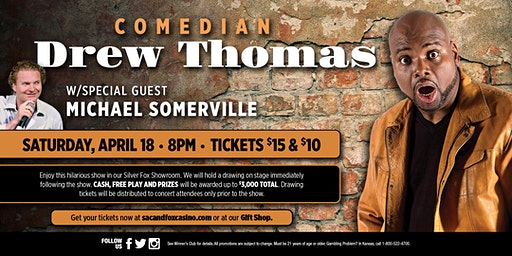 Comedian Drew Thomas