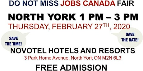 North York Job Fair – February 27th, 2020 tickets