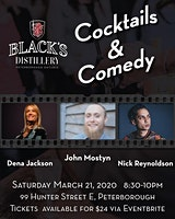 Cocktails & Comedy at Black's Distillery!