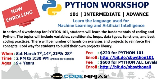 Code Ninjas PYTHON Workshop