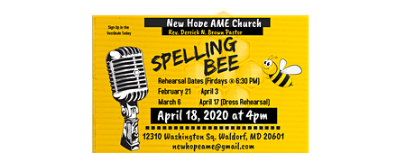 New Hope AME Annual Spelling Bee tickets