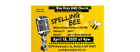 New Hope AME Annual Spelling Bee
