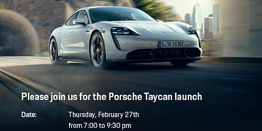Porsche Taycan Launch Party