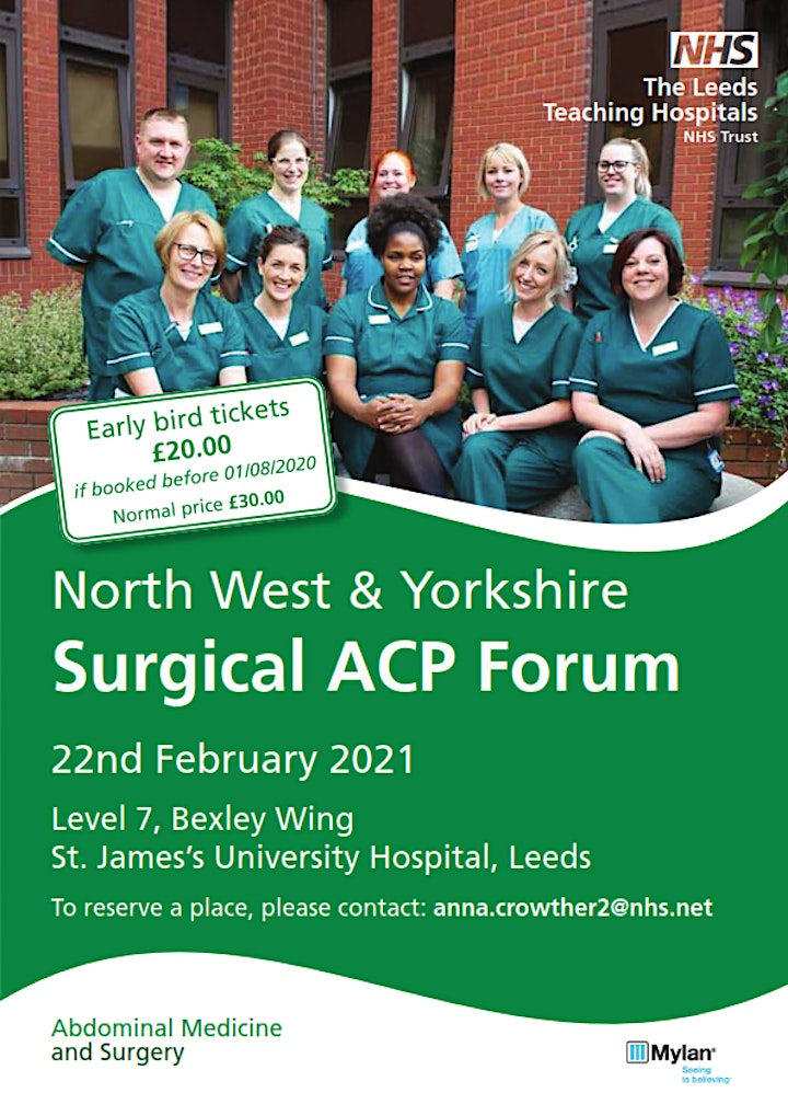 North West & Yorkshire Surgical Advanced Clinical Practitioner Forum 2021 image