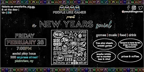 People Like Games present - a NEW YEARS SOCIAL tickets