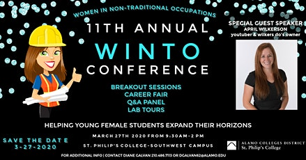 11th ANNUAL WINTO CONFERENCE (Women in Non-Traditional Occuaptions) tickets