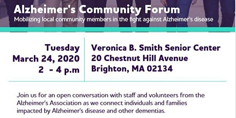 Alzheimer's Community Forum tickets