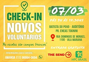 Check in de Voluntários