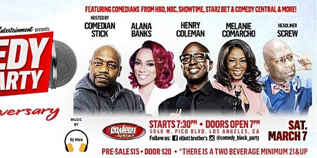 """Elliott Brothers Ent presents Comedy Block Party """"6 Year Anniversary Show"""" tickets"""