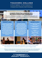 Summer Principals Academy Informational Social tickets