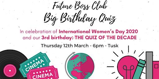 Future Boss Club Big Birthday Quiz 2020