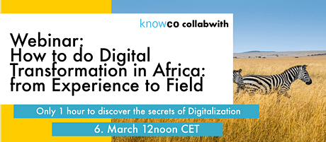 WEBINAR: How to do Digital Transformation in Africa: Experience to Field tickets