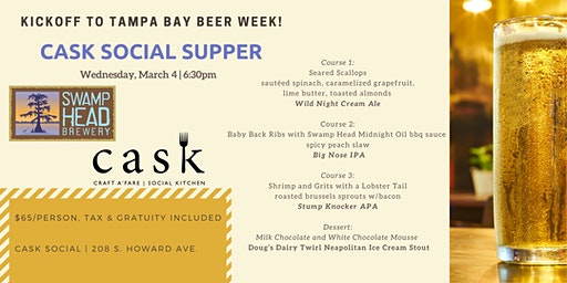 Cask Social Supper with Swamp Head Brewery