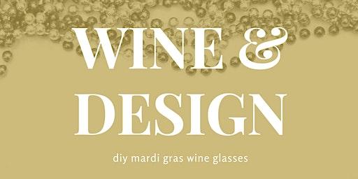 DIY Mardi Gras Wine Glass