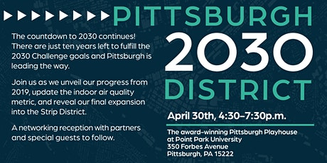 Pittsburgh 2030 District - 2019 Progress Report Reception tickets