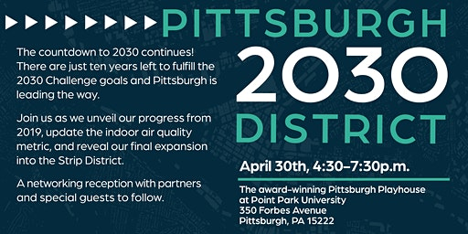 Pittsburgh 2030 District - 2019 Progress Report Reception