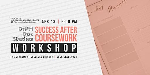 DrPH Doc Studies: Success After Coursework