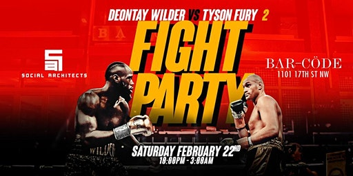 WILDER VS FURY II FIGHT PARTY AT BARCODE