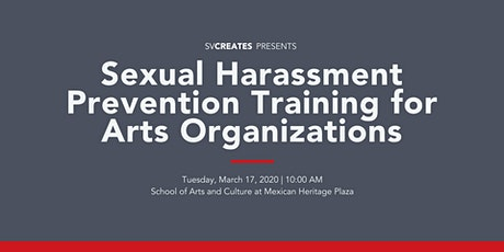 Sexual Harassment Prevention Training for Arts Organizations tickets