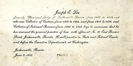 Speaker Series Event: Joseph E. Lee -- Jacksonville's First Black Lawyer tickets