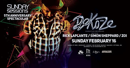 Deko-Ze at Sunday Sessions 5th Anniversary tickets