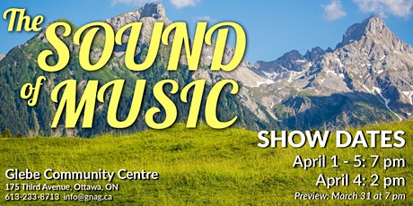 Saturday EVENING - Sound of Music tickets