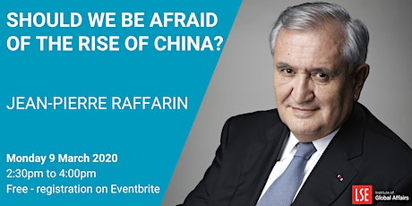 Should we be afraid of the rise of China? tickets