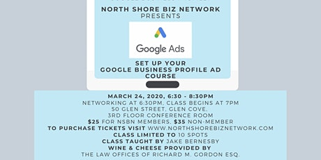 NSBN Google Business Profile Ad Class tickets