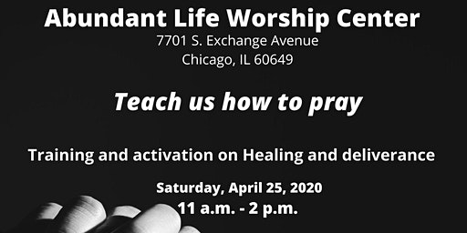 Teach us how to pray - Healing and Deliverance training