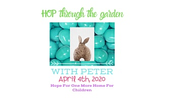 Hop Through The Garden With Peter Foster Family Easter Egg Hunt