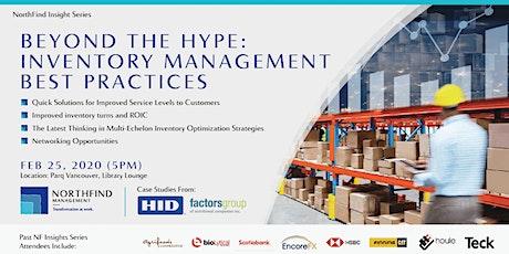 Inventory Management Workshop & Networking tickets