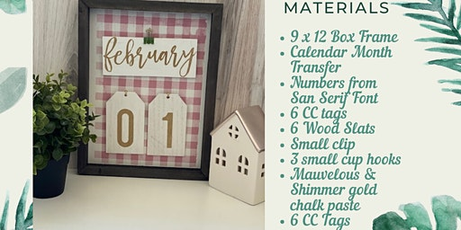 Custom Home Decor Desktop Calendar