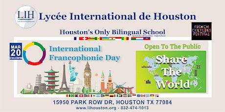 International Francophonie Day: Share the World tickets