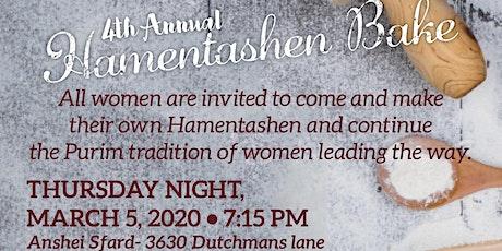 Women's Hamentashen Bake tickets