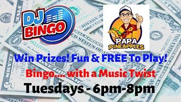 Play DJ Bingo FREE In Ocala - Papa Pineapples