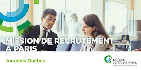 Mission de recrutement à Paris (Journées Québec) tickets