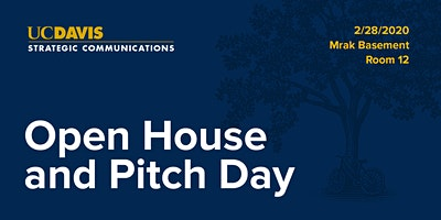 Strategic Communications Open House and Pitch Slam