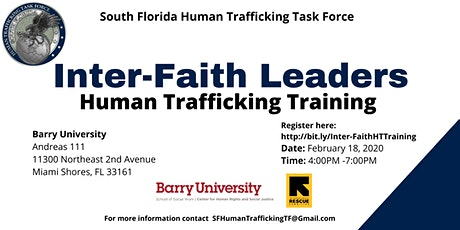 Inter-Faith Leaders Human Trafficking Training  tickets