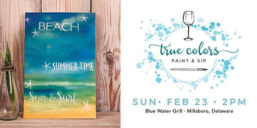 True Colors Paint and Sip at Blue Water Grill