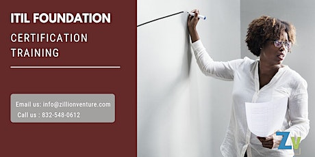 ITIL Foundation 2 days Classroom Training in Gaspé, PE tickets