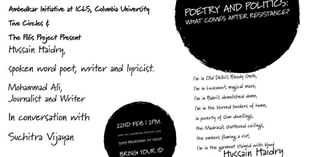 Poetry and Politics: What comes after resistance ? tickets