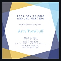 Rescheduled 2020 DSA of GWS Annual Meeting and Guest Speaker Dr. Turnbull