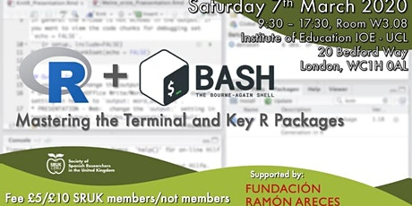 R and Bash - SRUK Research Computing Workshop (part 1) tickets