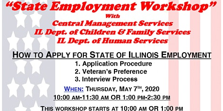 State of Illinois Employment Workshop with CMS, DCFS & IDHS tickets