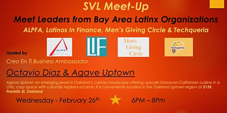 "SVL Meet-Up ""Meet Bay Area Latinx Organizations"" tickets"