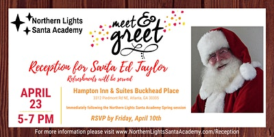 Northern Lights Santa Academy Meet & Greet For Santa Ed Taylor