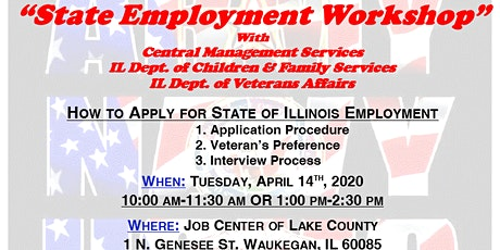 State of Illinois Employment Workshop with CMS, DCFS, IDVA-Lake County tickets